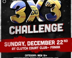 Christmas Day 3x3 Challenge sponsored by MS – December 2019